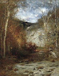 Rocky Ledge, Adirondacks, 1884 by Alexander Wyant | Painting Reproduction