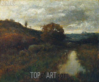 Alexander Wyant | Autumn Landscape and Pool, 1889