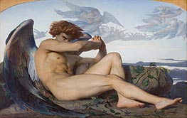 Fallen Angel, 1847 by Alexandre Cabanel | Painting Reproduction
