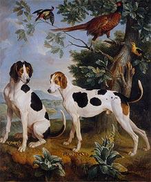 Pompeius und Florissant, Hund Louis XV, 1739 von Alexandre-François Desportes | Gemälde-Reproduktion