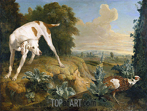 Alexandre-François Desportes | Dog Stopped in Front of a Pheasant, undated