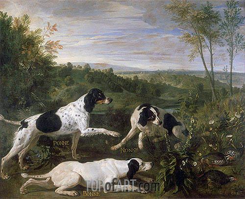 Alexandre-François Desportes | Bonne, Nonne and Ponne, c.1702