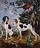 Pompée and Florissant, the Dogs of Louis XV, 1739 | Alexandre-François Desportes