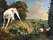 Hund vor einem Fasan Gestoppt, undated | Alexandre-François Desportes