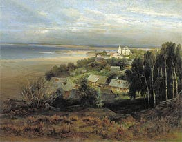 The Pechersk Monastery near Nizhny Novgorod | Alexey Savrasov | Painting Reproduction