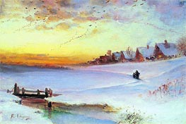 Thawing Weather | Alexey Savrasov | Painting Reproduction