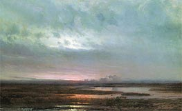 Sunset Above Bogs | Alexey Savrasov | Painting Reproduction