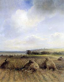 By the End of the Summer on Volga | Alexey Savrasov | Painting Reproduction