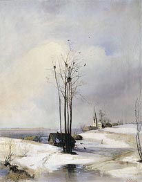 Early Spring. Thaw | Alexey Savrasov | Painting Reproduction