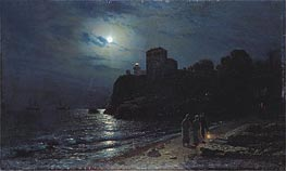 Moonlight on the Edge of a Lake | Alexey Savrasov | outdated