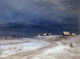 Winter Landscape, c.1880/90 by Alexey Savrasov | Painting Reproduction