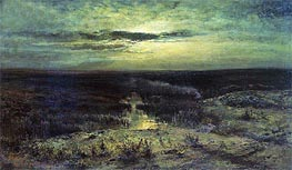 Moonlight Night. Bog | Alexey Savrasov | Gemälde Reproduktion
