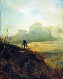 Tomb on Volga. Vicinities of Yaroslavl | Alexey Savrasov | Gemälde Reproduktion
