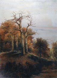 Autumn Wood. Kuntsevo. A Cursed Place, 1872 by Alexey Savrasov | Painting Reproduction