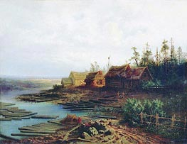Rafts, 1868 by Alexey Savrasov | Painting Reproduction