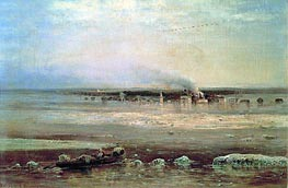 Flood of Volga near Yaroslavl | Alexey Savrasov | veraltet