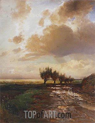Alexey Savrasov | A Cart-Track (Country Road), 1873
