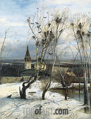 The Rooks Have Come, 1871 | Alexey Savrasov | Painting Reproduction