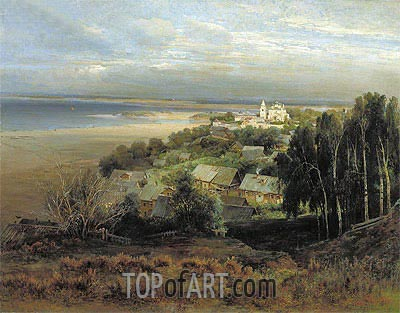 The Pechersk Monastery near Nizhny Novgorod, 1871 | Alexey Savrasov | Painting Reproduction