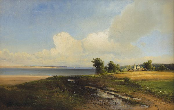 Landscape. Volga, 1874 | Alexey Savrasov | Painting Reproduction