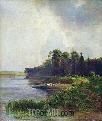Coast of the River, 1879 | Alexey Savrasov| Painting Reproduction