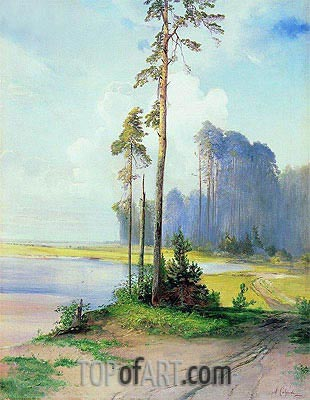 Summer Landscape. Pines, c.1880 | Alexey Savrasov| Painting Reproduction