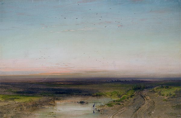 Sunset, c.1870 | Alexey Savrasov | Painting Reproduction