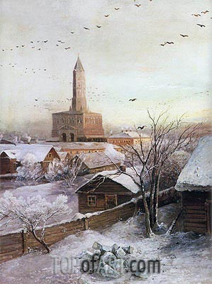 The Sukharev Tower in Moscow, 1872 | Alexey Savrasov| Painting Reproduction