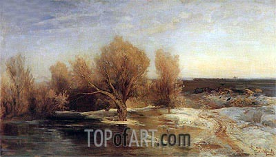 Spring, 1883 | Alexey Savrasov | Painting Reproduction