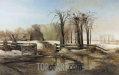 Spring Day, 1873 | Alexey Savrasov | Painting Reproduction
