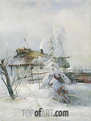 Winter, 1973 | Alexey Savrasov | Painting Reproduction