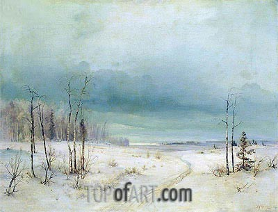 Winter,  | Alexey Savrasov| Painting Reproduction