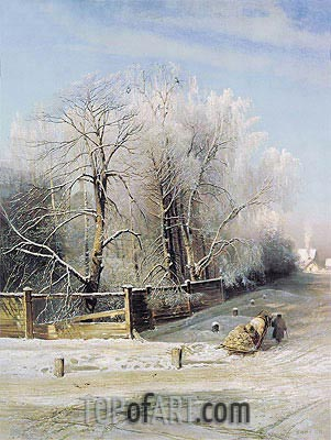 Winter Landscape, 1873 | Alexey Savrasov| Painting Reproduction
