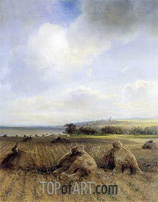 By the End of the Summer on Volga, 1873 | Alexey Savrasov | Painting Reproduction