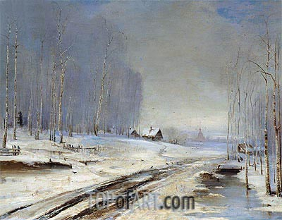 Sea of Mud (Rasputitsa), 1894 | Alexey Savrasov| Painting Reproduction