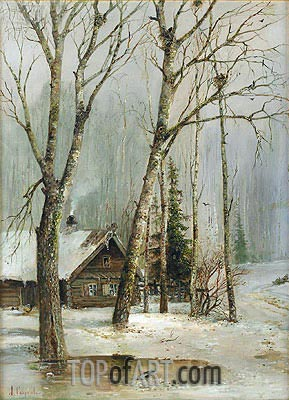 Cottage in the Woods,  | Alexey Savrasov | Painting Reproduction