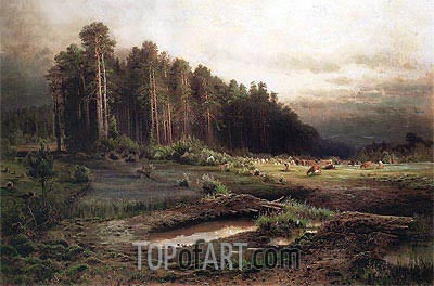 Losiny Island in Sokolnik, 1869 | Alexey Savrasov| Painting Reproduction