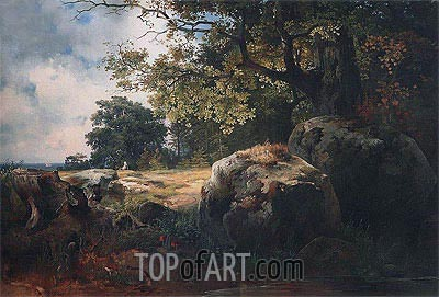 View of Vicinities of Oranienbaum, 1854 | Alexey Savrasov | Painting Reproduction