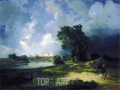 View of the Kremlin in Bad Weather, 1851 | Alexey Savrasov| Painting Reproduction