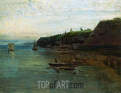 Volga near Goroditsa, 1870 | Alexey Savrasov| Painting Reproduction