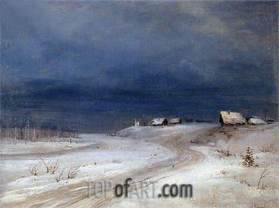Winter Landscape, c.1880/90 | Alexey Savrasov| Painting Reproduction