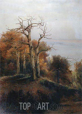 Autumn Wood. Kuntsevo. A Cursed Place, 1872 | Alexey Savrasov| Painting Reproduction