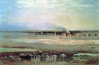 Alexey Savrasov | Flood of Volga near Yaroslavl, 1871