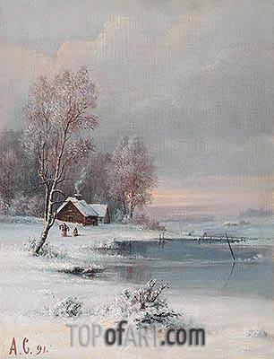 Coast during Winter, 1891 | Alexey Savrasov | Gemälde Reproduktion