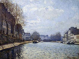 View of the Canal St. Martin, 1870 by Alfred Sisley | Painting Reproduction