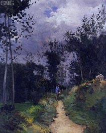 Rural Guardsman in the Fontainebleau Forest, 1870 by Alfred Sisley | Painting Reproduction