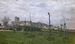 View of Montmartre from the Cite des Fleurs | Alfred Sisley | outdated
