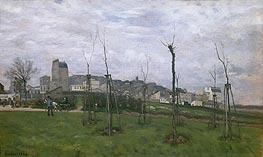 View of Montmartre from the Cite des Fleurs, 1869 von Alfred Sisley | Gemälde-Reproduktion