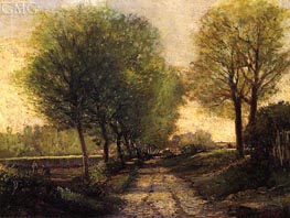 Lane near a Small Town, c.1864/65 by Alfred Sisley | Painting Reproduction