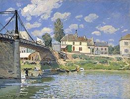 The Bridge at Villeneuve la Garenne | Alfred Sisley | outdated